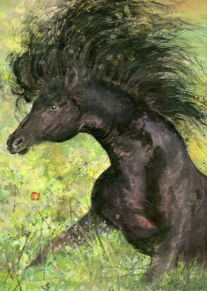 Horse 7 Painting by River Han