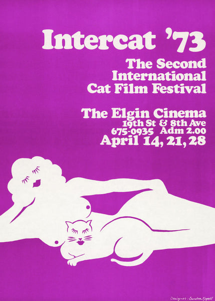 Intercat '73 Cat Film Festival Art Print