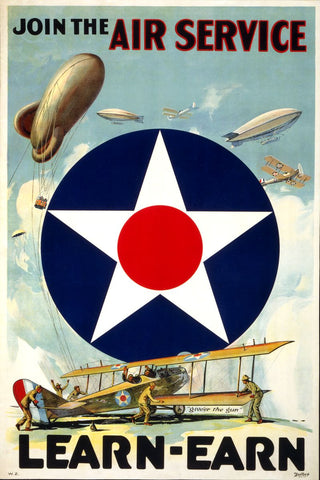Join the Air Service Learn Earn Vintage Ad