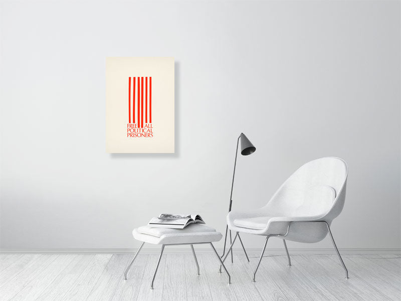 Free Political Prisoners Graphic Americana Art Print