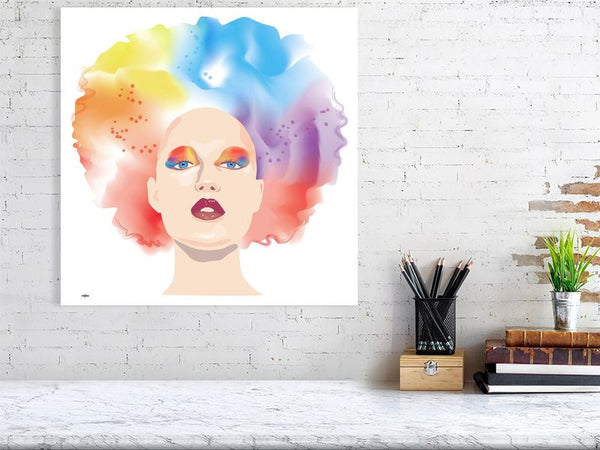 Rainbow Beauty by Gee Dee Art