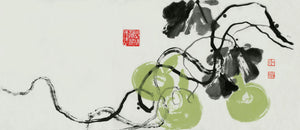 Gourd 5 - Chinese Brush Painting by River Han