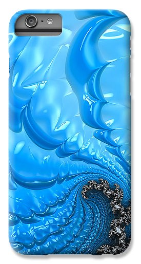 Abstract Blue Winter Fractal - Phone Case