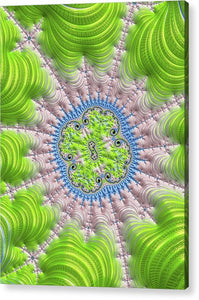 Abstract Fractal Art Greenery Rose Quartz Serenity - Acrylic Print