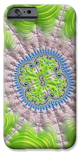 Abstract Fractal Art Greenery Rose Quartz Serenity - Phone Case