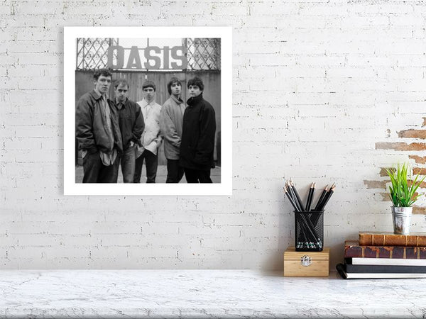 Oasis 1994 black and white photo by Matthew R Lewis Limited Edition Fine Art Print