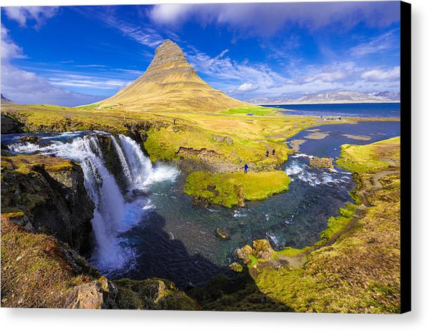 Amazing Kirkjufell Waterfall Iceland - Canvas Print
