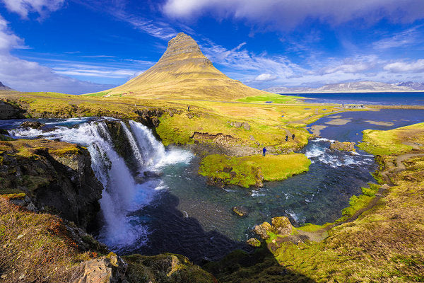 Amazing Kirkjufell Waterfall Iceland - Art Print