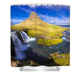 Amazing Kirkjufell Waterfall Iceland - Shower Curtain