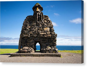 Bardur Sculpture In Arnarstapi Iceland - Canvas Print