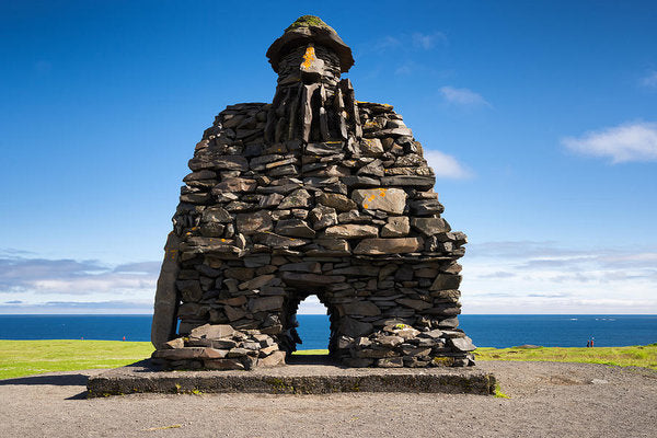 Bardur Sculpture In Arnarstapi Iceland - Art Print