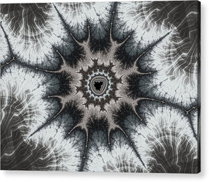 Beautiful Grey Silver And Beige Fractal - Acrylic Print