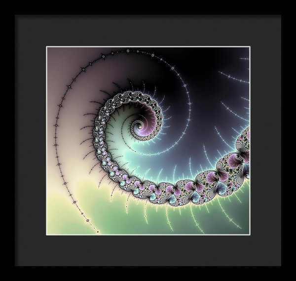 Beautiful Mandelbrot Fractal - Spiral - Framed Print