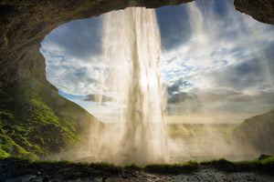 Behind The Waterfall Seljalandsfoss Iceland - Art Print