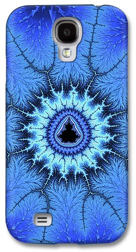 Blue Mandelbrot Fractal Relaxing And Balanced - Phone Case