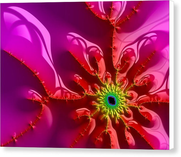 Bright And Colorful Digital Abstract Fractal Artwork Purple And Red - Canvas Print