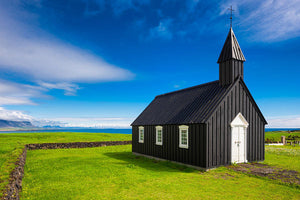 Budir Black Church West Iceland Europe - Art Print