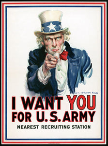 Uncle Sam I want you for US Army Vintage Poster for sale