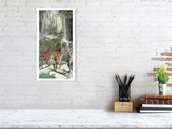 Tiger 50 - Art by River Han printed on Bamboo Fine Art Paper