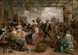 Jan Steen - The Dancing Couple - Fine Art Print