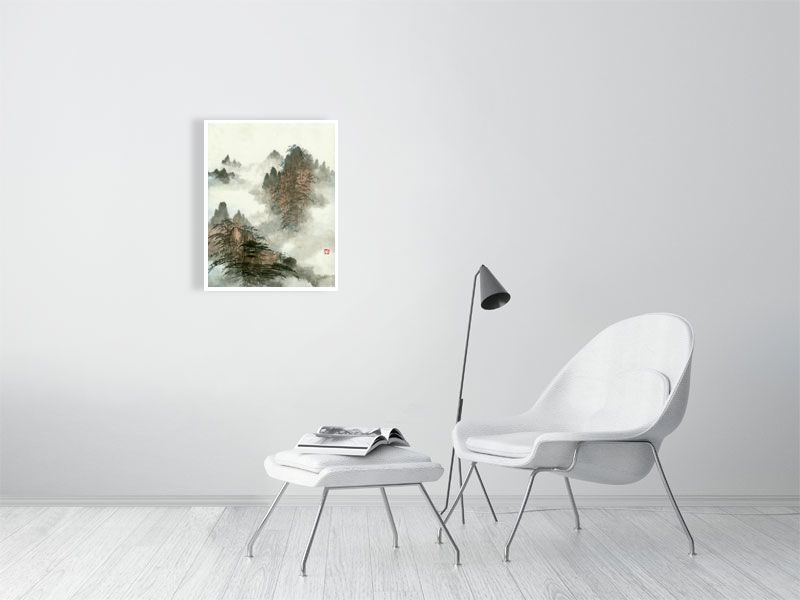 Landscape 62 Chinese Brush Painting by River Han