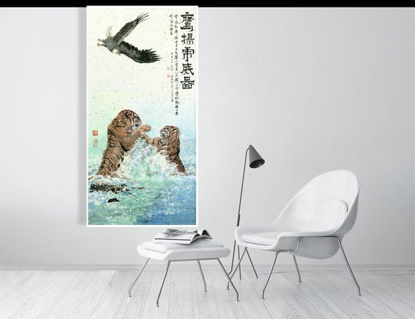 Tigers and Eagle - Art by River Han
