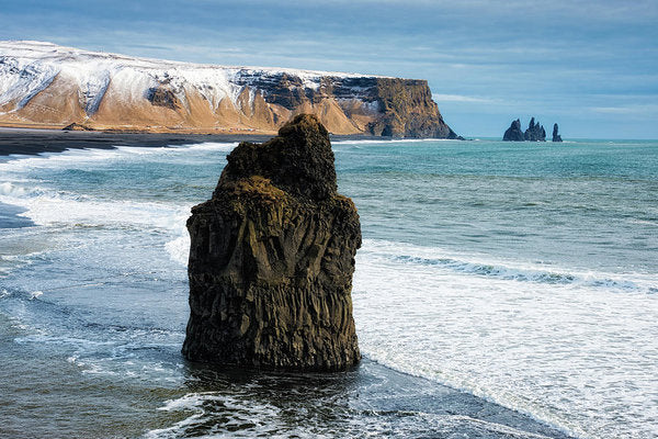 Cliffs And Ocean In Iceland Reynisfjara - Art Print