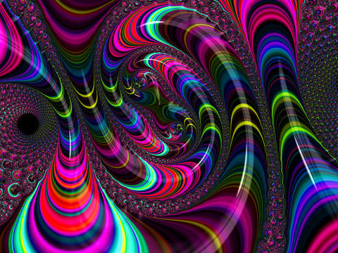 Colorful Fractal Art - Art Print