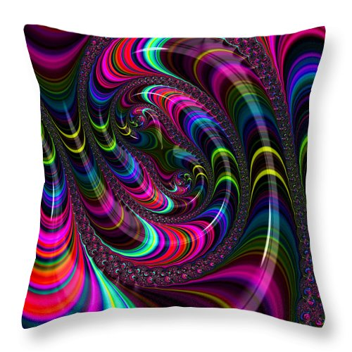 Colorful Fractal Art - Throw Pillow