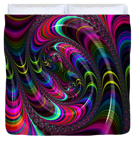 Colorful Fractal Art - Duvet Cover