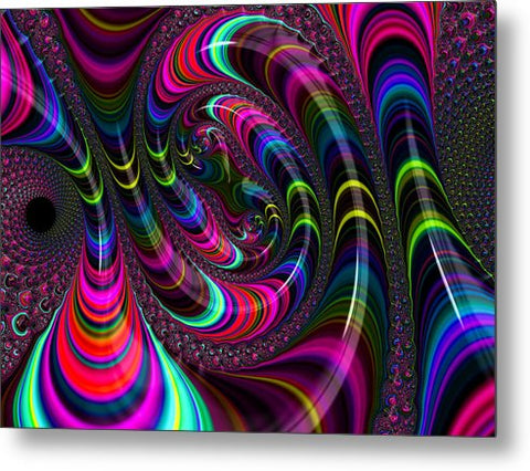 Colorful Fractal Art - Metal Print