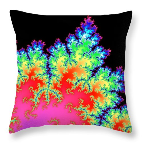 Colorful Fractal Artwork - Throw Pillow