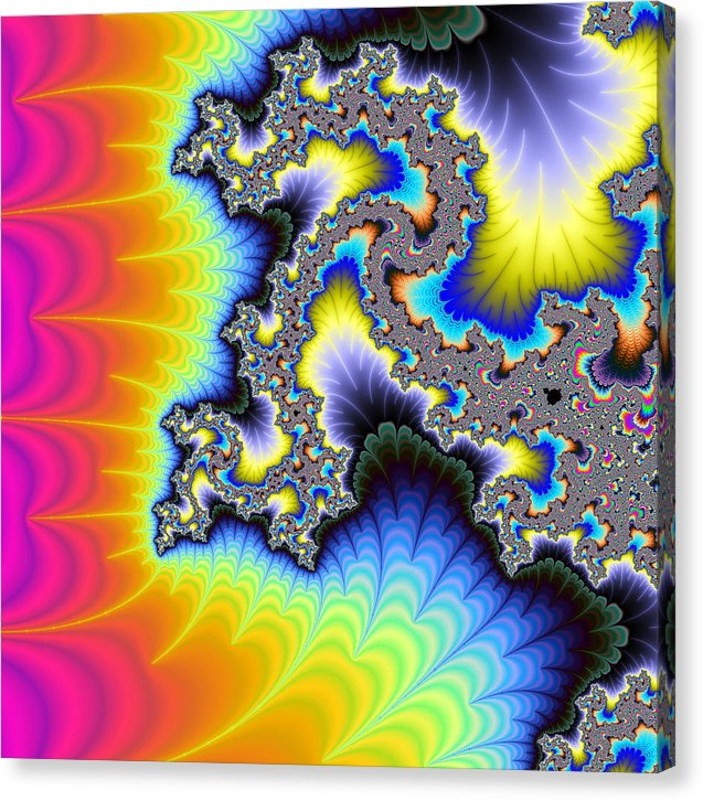 Crazy Wild And Colorful Fractal Artwork - Canvas Print
