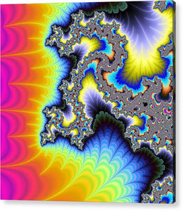 Crazy Wild And Colorful Fractal Artwork - Acrylic Print