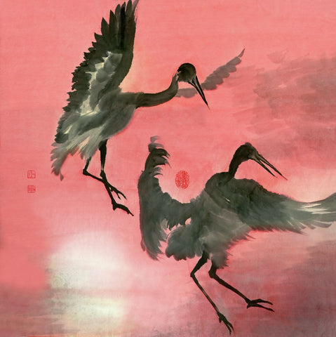 Cranes 16 Art by River Han