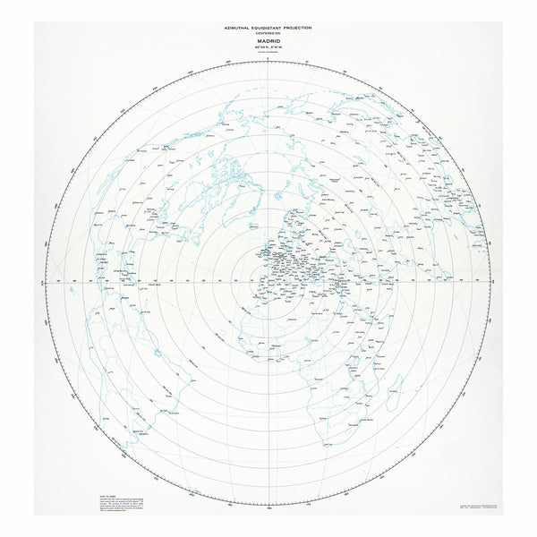 Madrid - Azimuthal equidistant projection