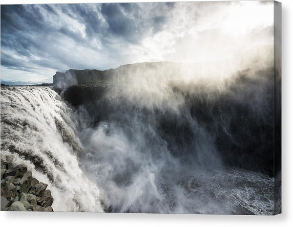 Dettifoss Waterfall North Iceland - Canvas Print