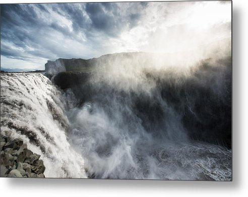 Dettifoss Waterfall North Iceland - Metal Print