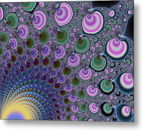 Digital Fractal Artwork Beautiful Colors - Metal Print