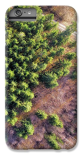 Drone Photography Trees In Forest From Above - Phone Case