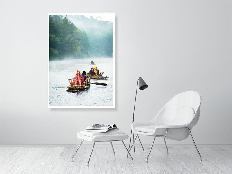 Misty Morning On The Lake by Tom Arne Hanslien (84x119cm)