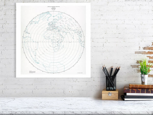 Kinshasa - Azimuthal equidistant projection