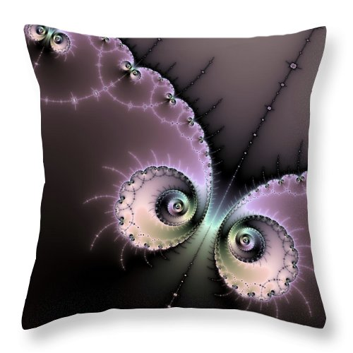 Encounter - Digital Fractal Artwork - Throw Pillow