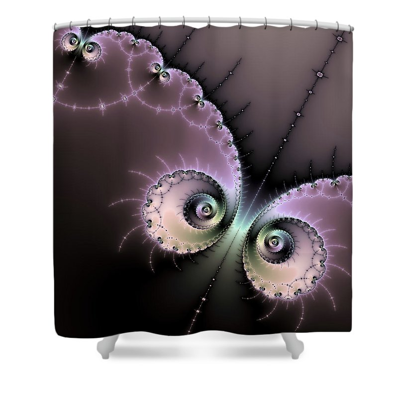 Encounter - Digital Fractal Artwork - Shower Curtain