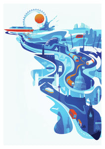 London Flow - Illustration by Andy Potts