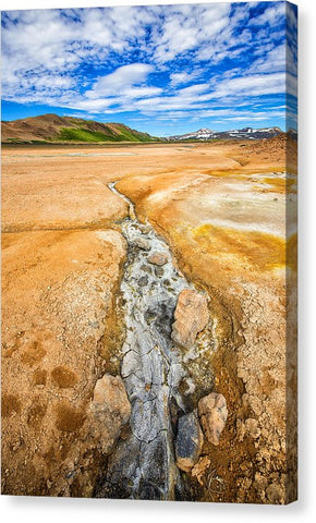 Fascinating Iceland - Geothermal Landscape Hverir - Canvas Print
