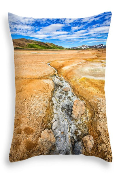 Fascinating Iceland - Geothermal Landscape Hverir - Throw Pillow