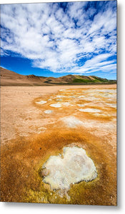 Fascinating Landscape In Iceland Europe - Metal Print