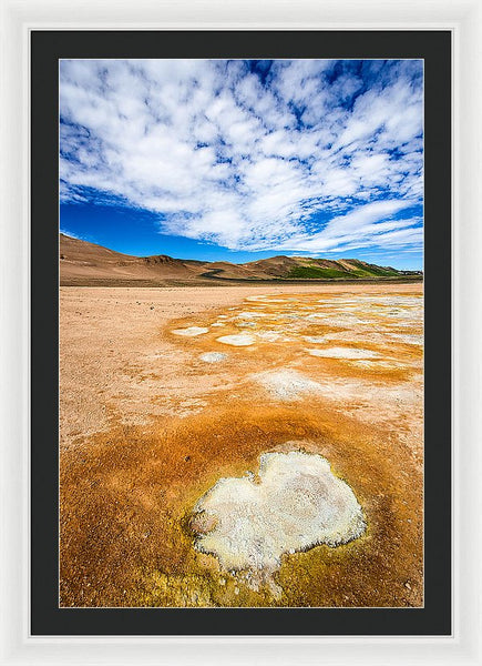 Fascinating Landscape In Iceland Europe - Framed Print