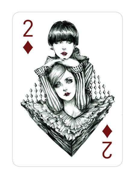 Two of Diamond - Illustration by Connie Lim - Art Print